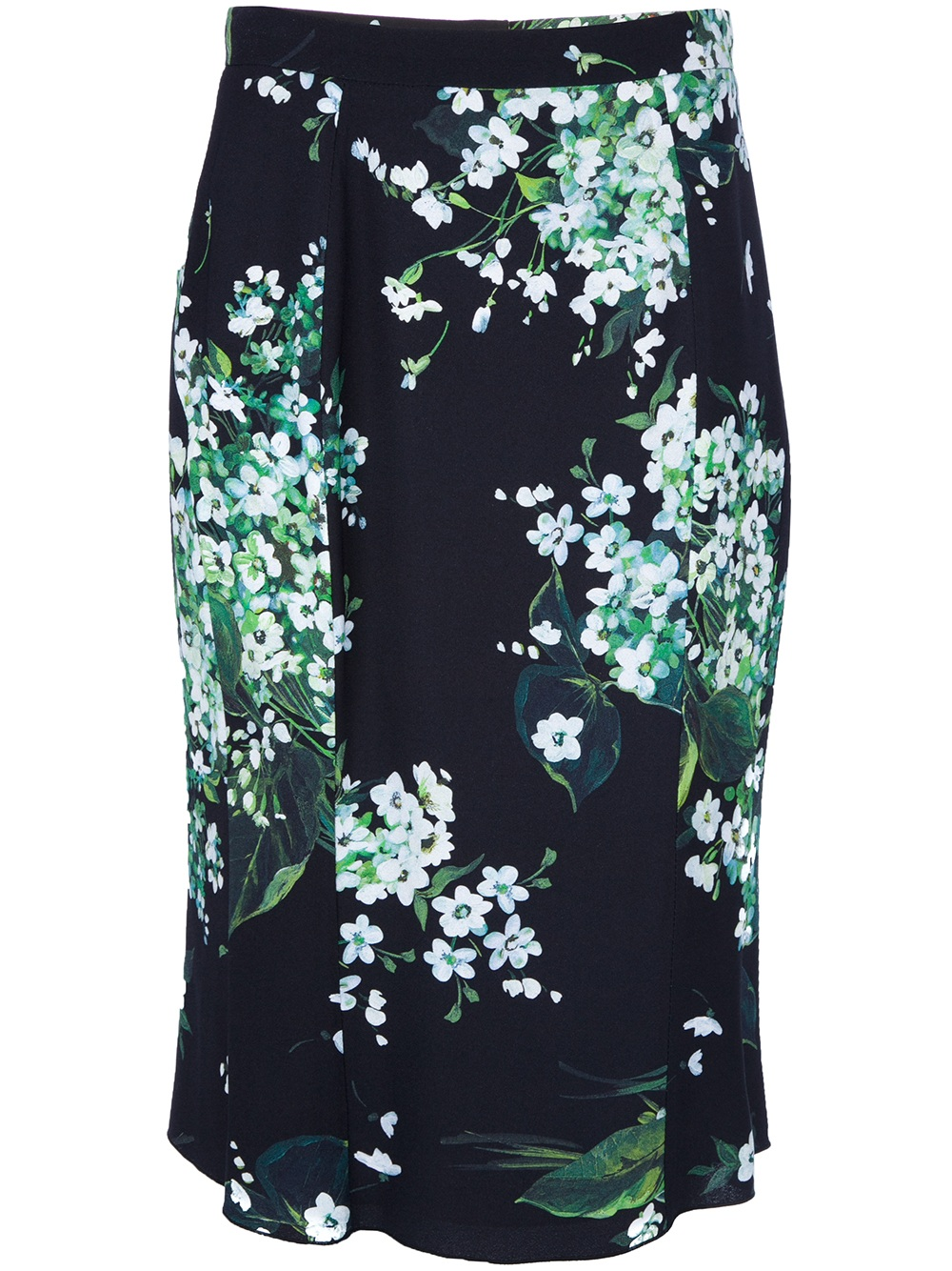 dolce gabbana floral print pencil skirt in floral lyst