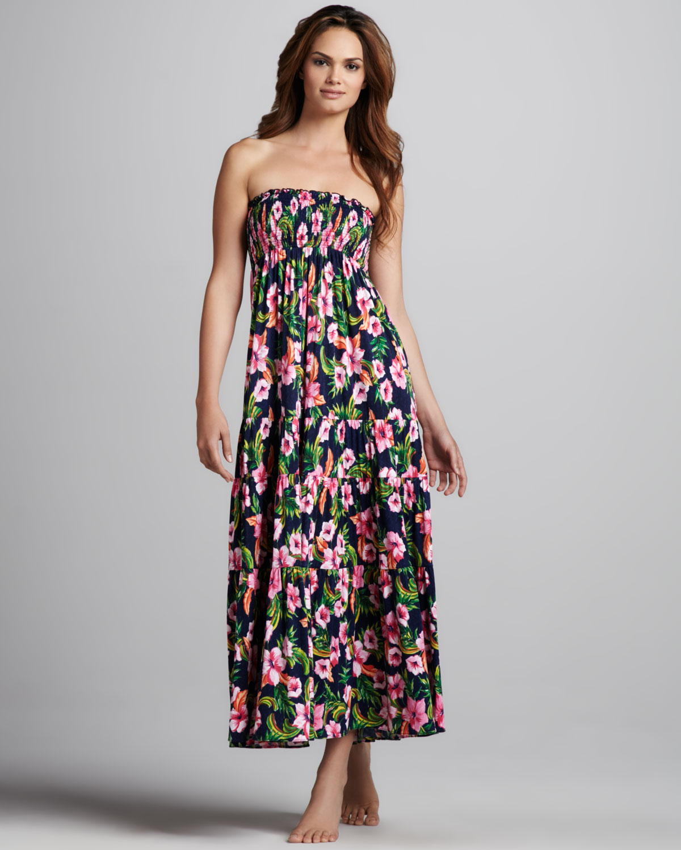 Floral Print Maxi Dresses