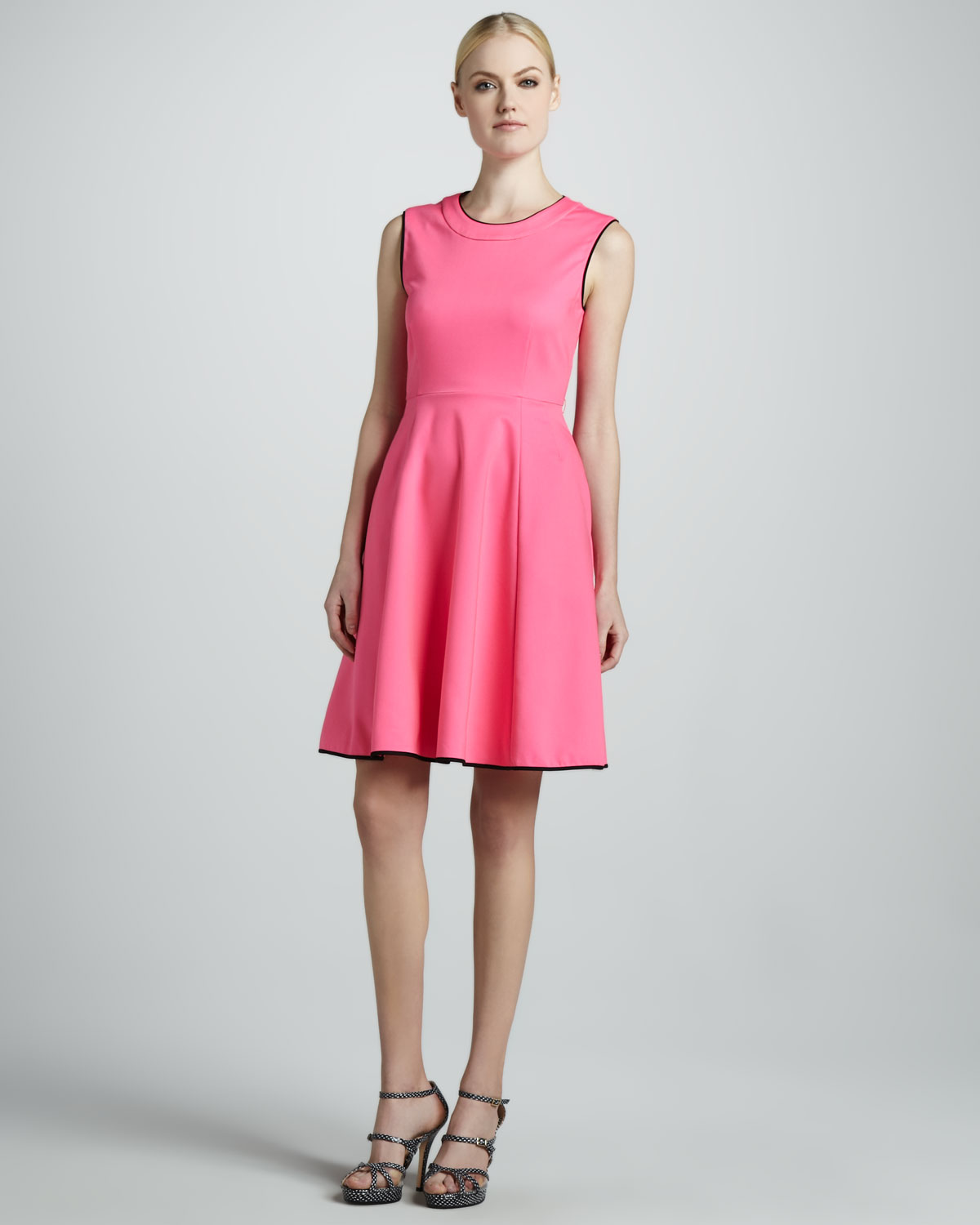 Kate spade new york carol sleeveless flare dress in pink lyst gallery previously sold at neiman marcus ombrellifo Choice Image