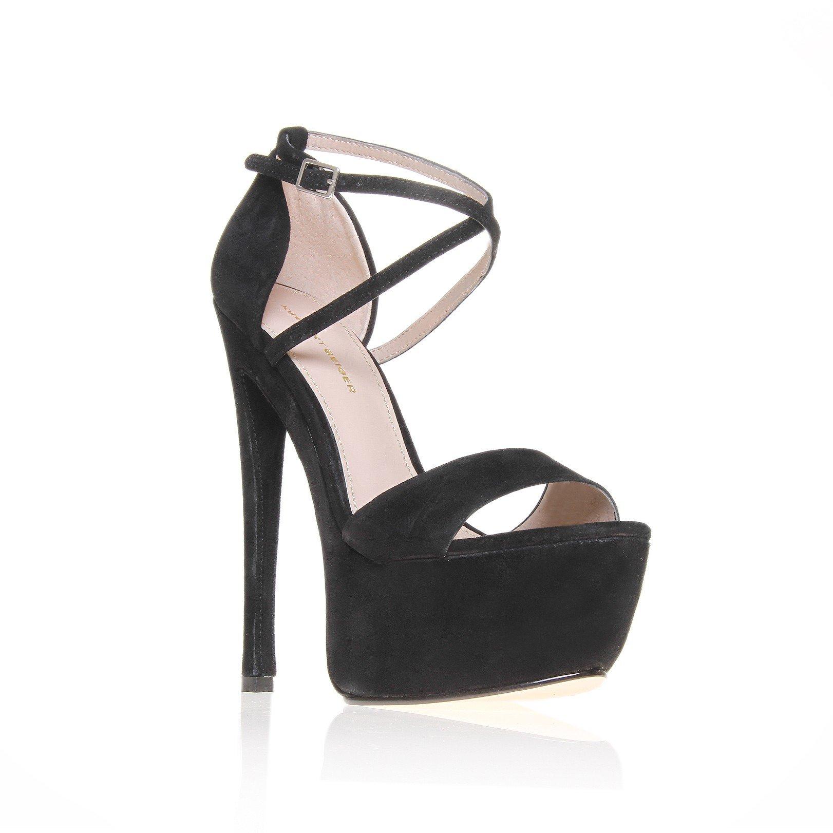 Kg Kurt Geiger Nanette glitter platform sandals