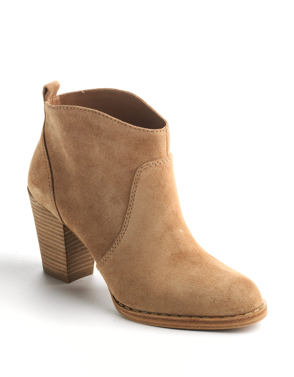 kors by michael kors wayland suede ankle boots in brown
