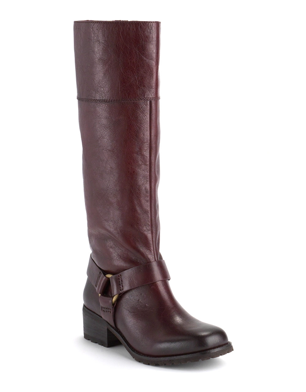 lucky brand abeni leather boots in purple leather lyst
