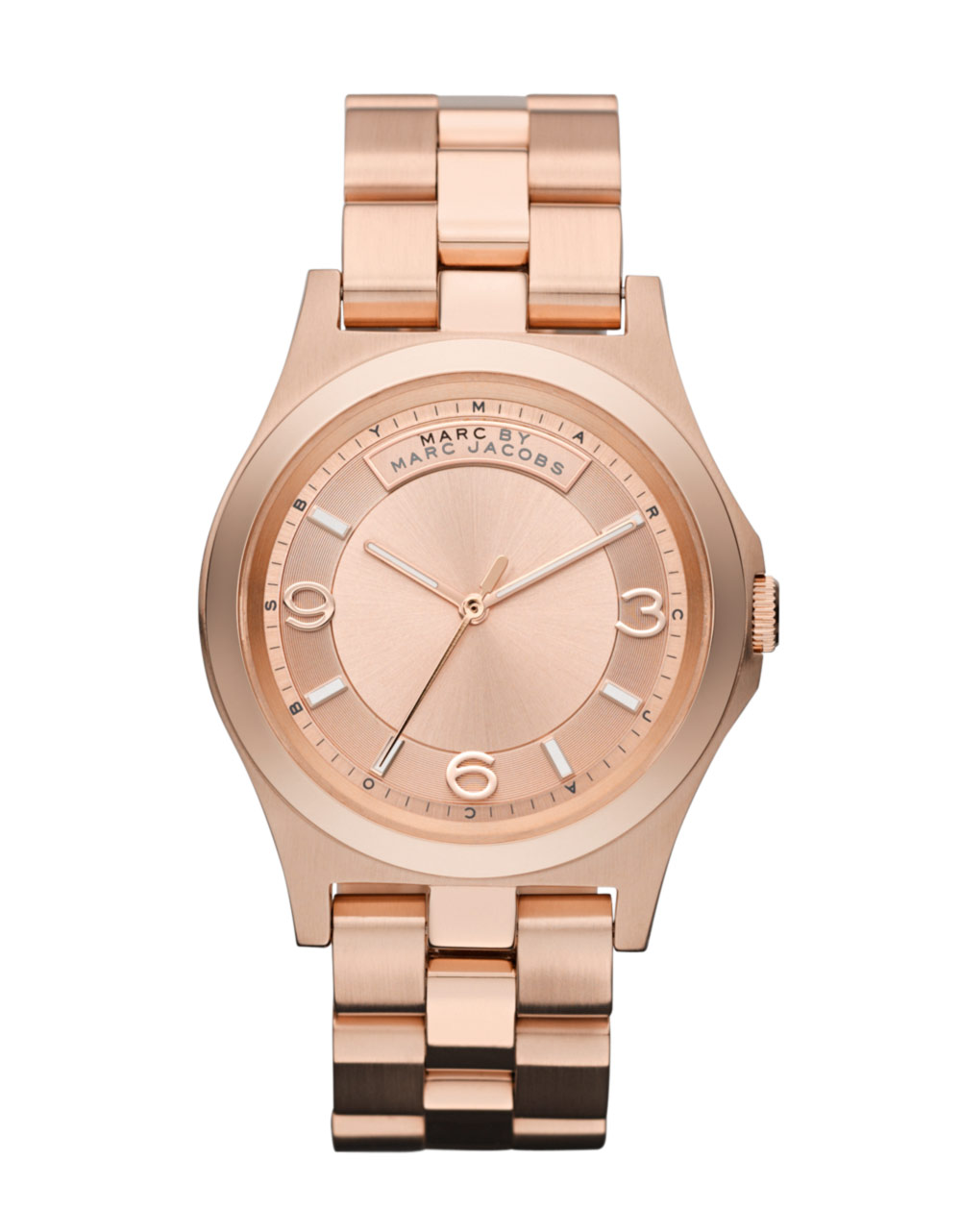 marc by marc jacobs womens rose gold watch in pink rose