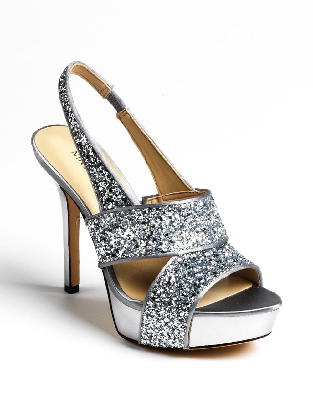 8b1b4340327 Nine West Fairgame Platform Sandals in Metallic - Lyst