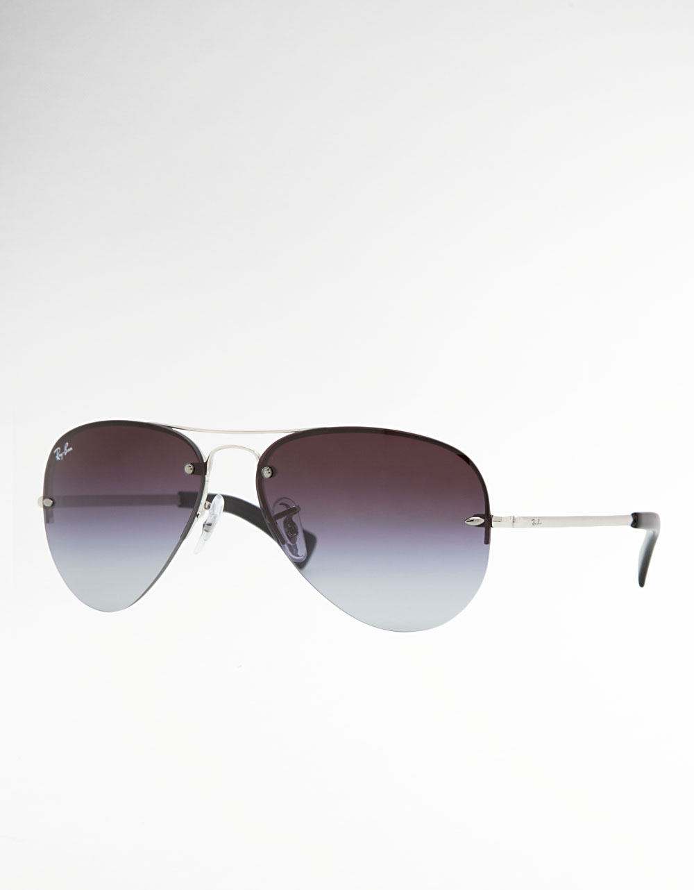 Rimless Glasses Ray Ban : Ray-ban Rimless Aviator Sunglasses in Gray (grad smoke) Lyst