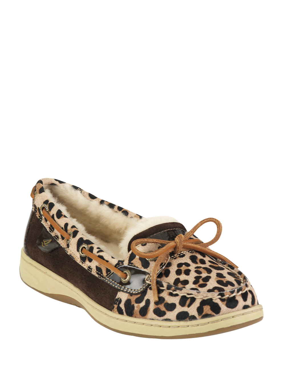Sperry top sider angel fish leopard print slipon boat for Best boat shoes for fishing
