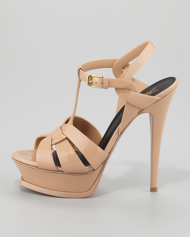 Saint Laurent Tribute Patent Leather Sandal (6.340 DKK