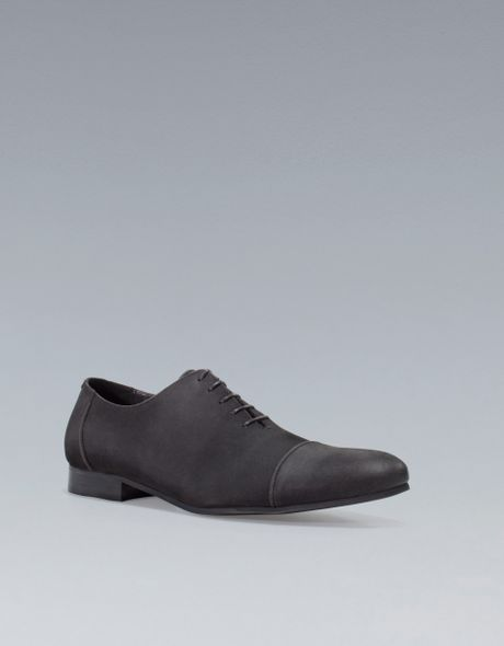 Excellent Zara Oxford Shoes With Toecap Detail In Multicolor For Men  Lyst