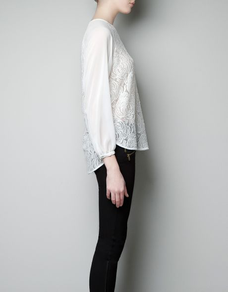 Zara Combined Lace Blouse 63