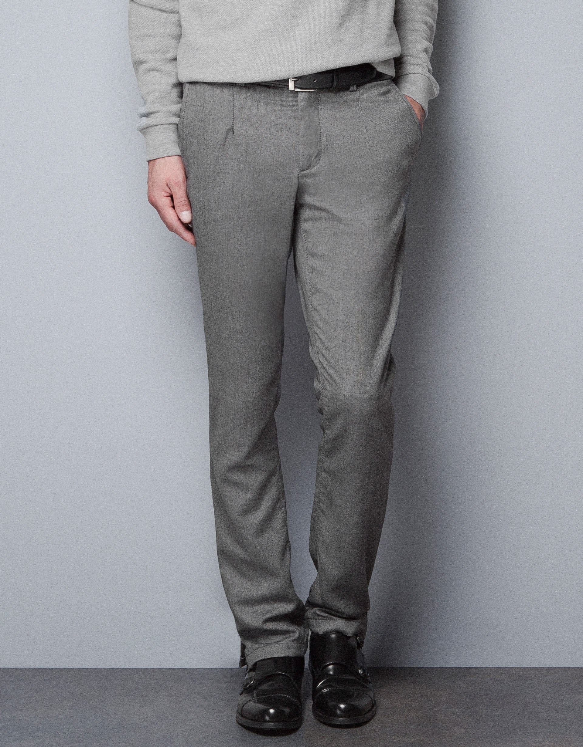 Zara Formal Trousers In Gray For Men (grey) | Lyst