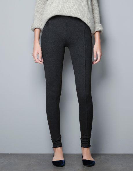 zara high waist leggings in black  marengo