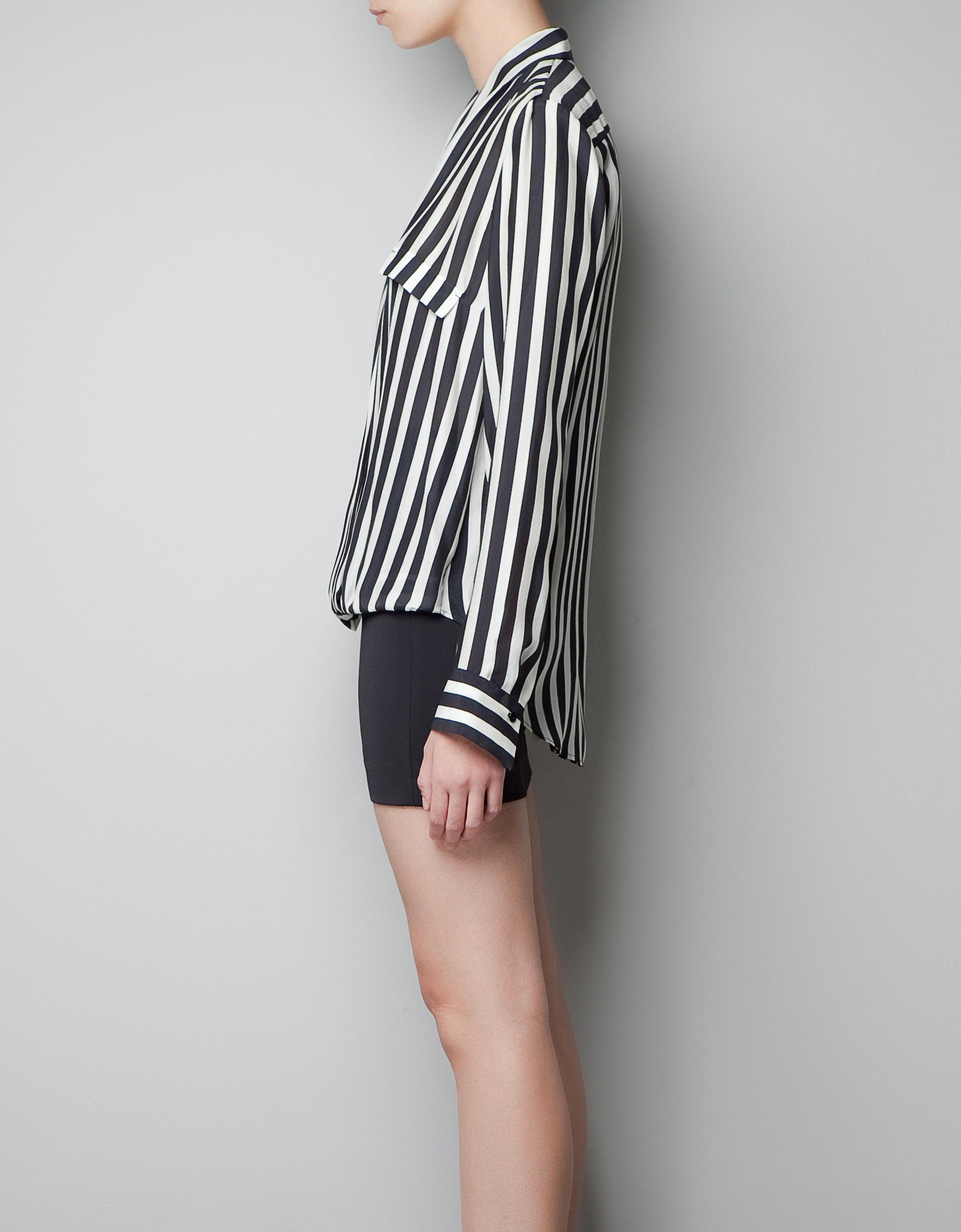 Zara White Wrap Blouse 114
