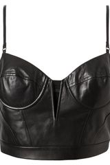 Alexander Wang Leather Bustier