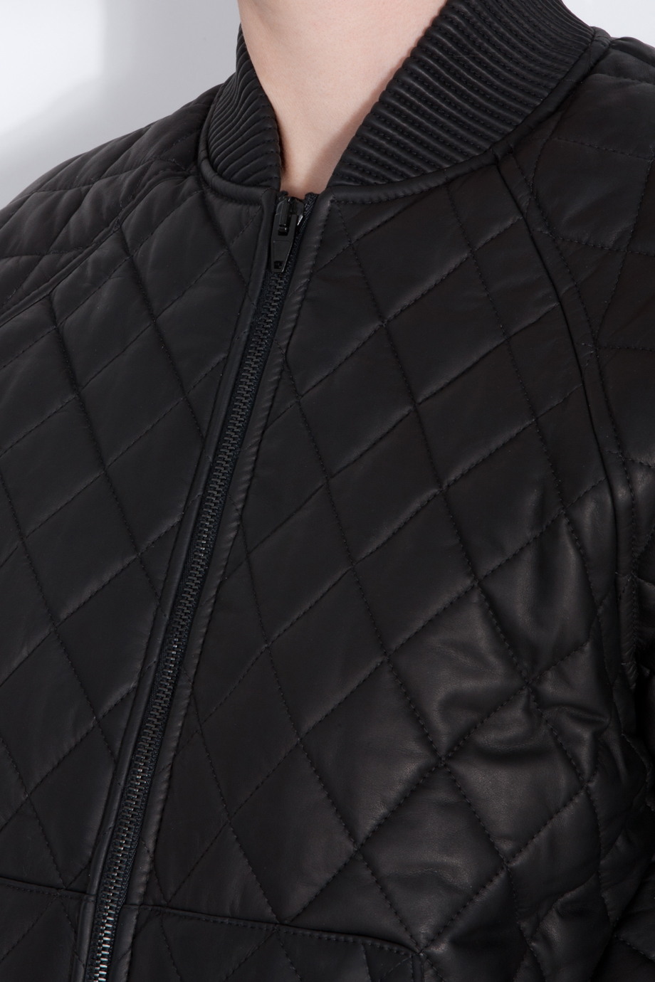 Quilted Leather Bomber Jacket Men - Pl Jackets