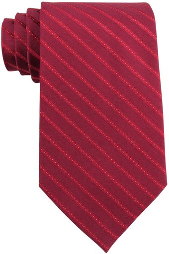 Calvin Klein Striped Silk Tie - Lyst