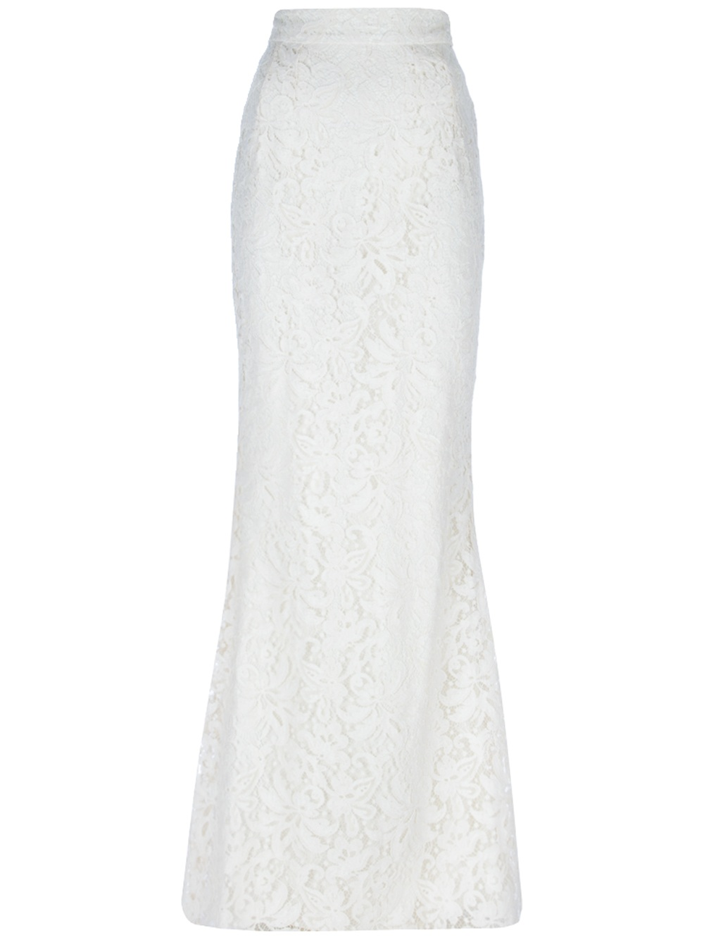 dolce gabbana lace maxi skirt in white lyst