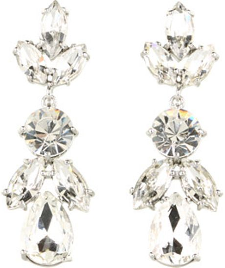 kate spade petals bridal drop earrings in white c