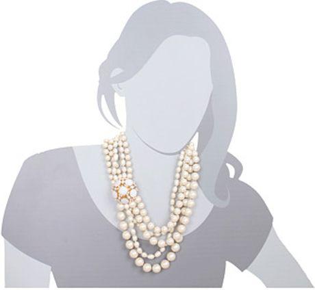 kate spade fleur bridal necklace in pink n lyst