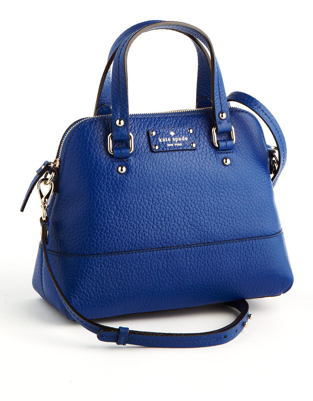 Kate spade new york Maise Leather Satchel Bag in Blue | Lyst