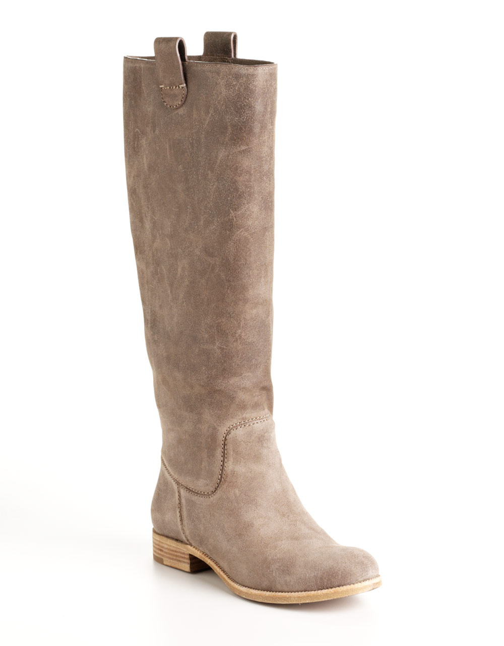 kors by michael kors amby leather boots in brown taupe