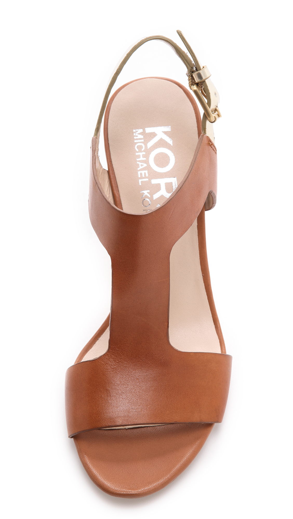 Lyst Kors By Michael Kors Xyla Low Heel T Strap Sandal