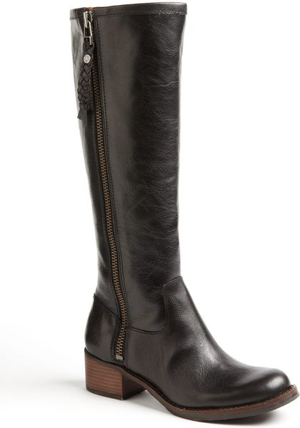 lucky brand hesper leather boots in black black