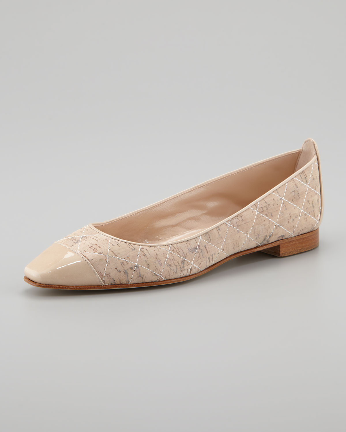 free shipping Manchester Manolo Blahnik Cork Cap-Toe Flats low cost sale online with mastercard cheap price JPGwv