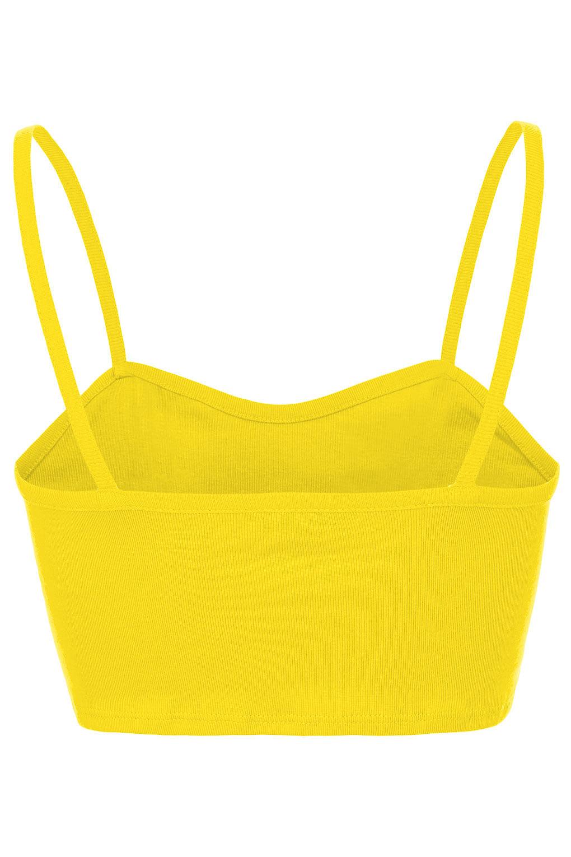 Lyst - Topshop Bralet Crop Top in Yellow
