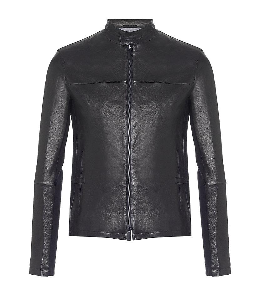Leather Moto Jacket - Blazers - Mens - Armani Exchange