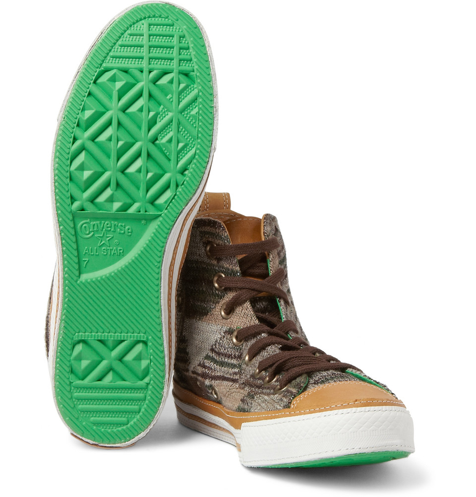 41739c4ffe66 Converse Missoni Chuck Taylor High Top Sneakers in Brown for Men - Lyst