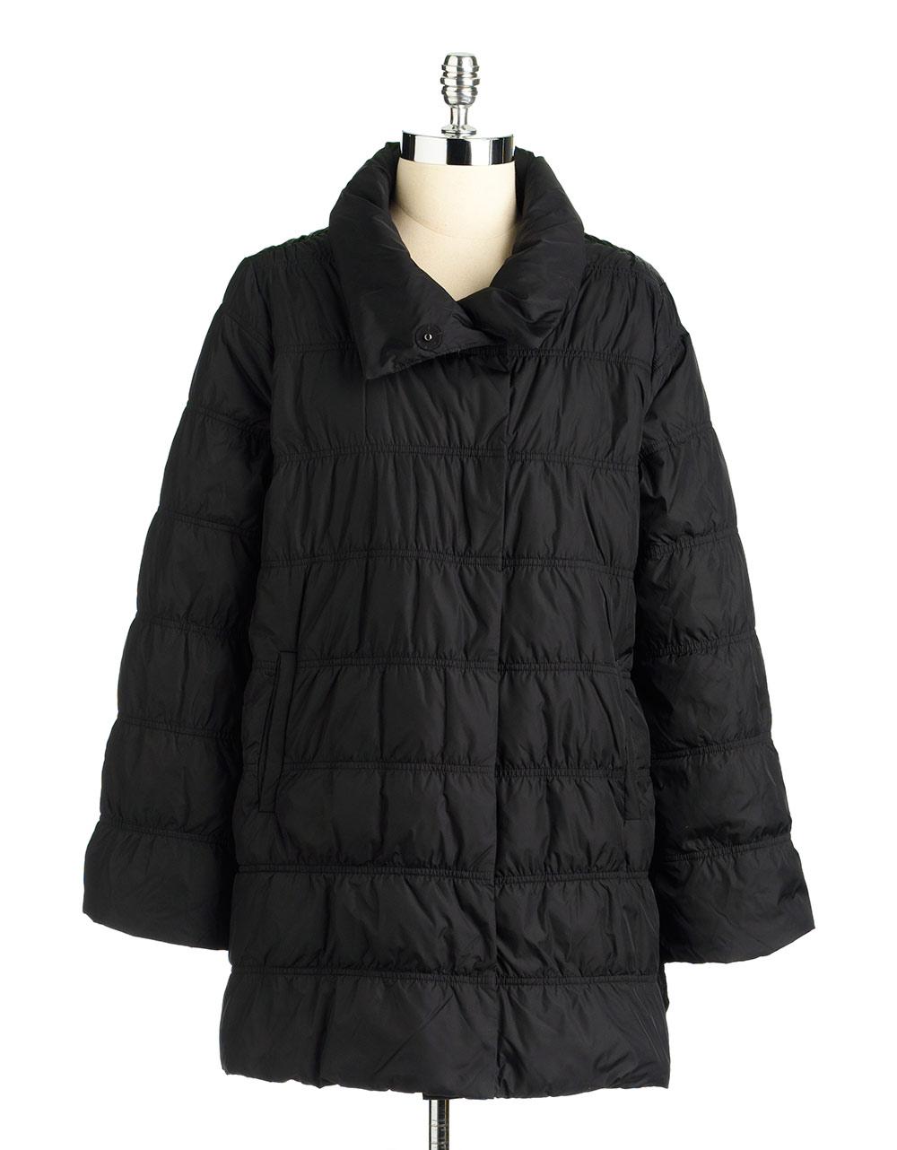 Eileen Fisher Weather Resistant Down Jacket In Black Lyst