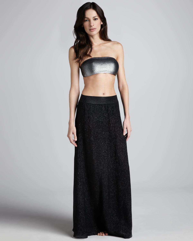 Black Long A Line Skirt - Dress Ala