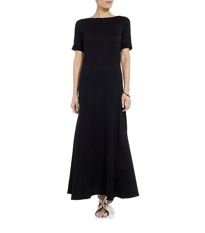 Ralph Lauren Black Label Maxi T Shirt Dress In Black Lyst