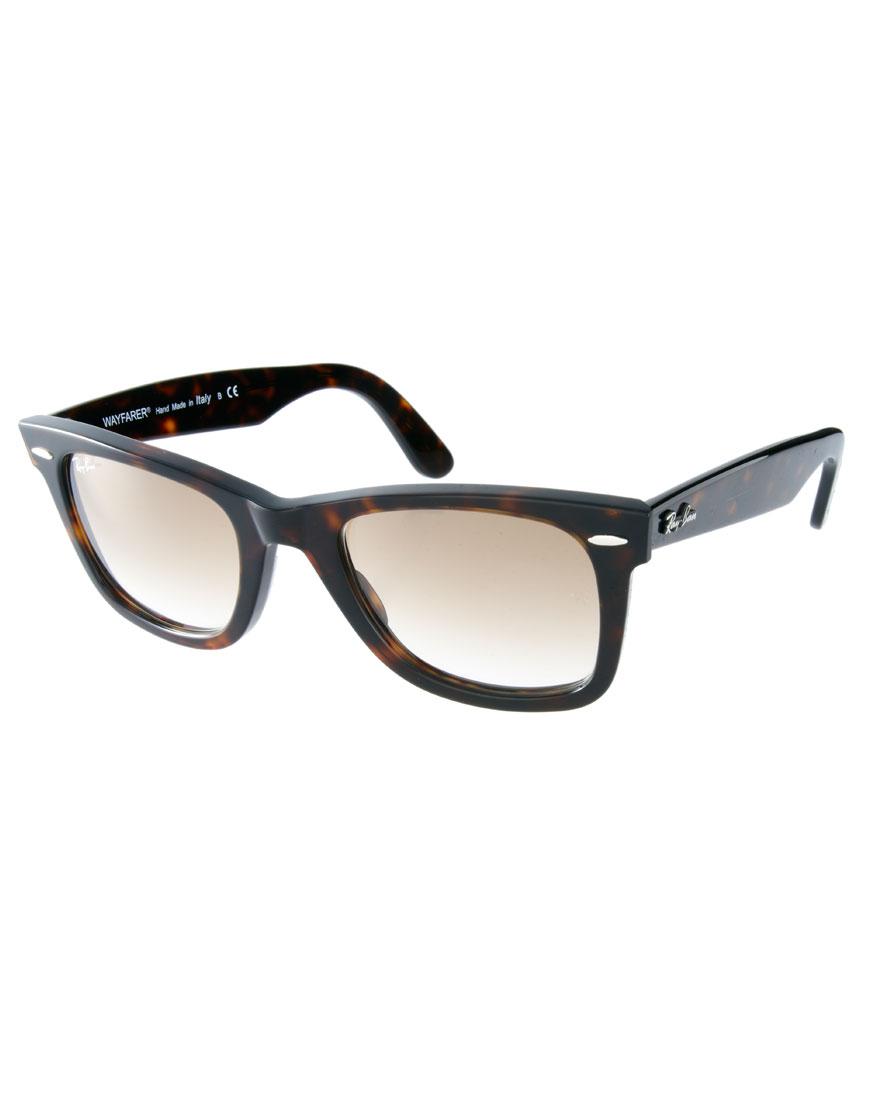 6e9405325e Lyst - Ray-Ban Tortoise Original Wayfarer Sunglasses in Brown