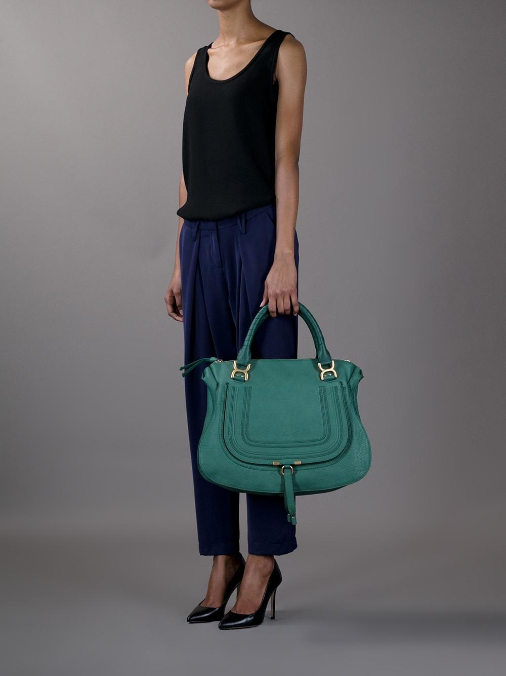 Chlo¨¦ Marcie Bag in Green | Lyst