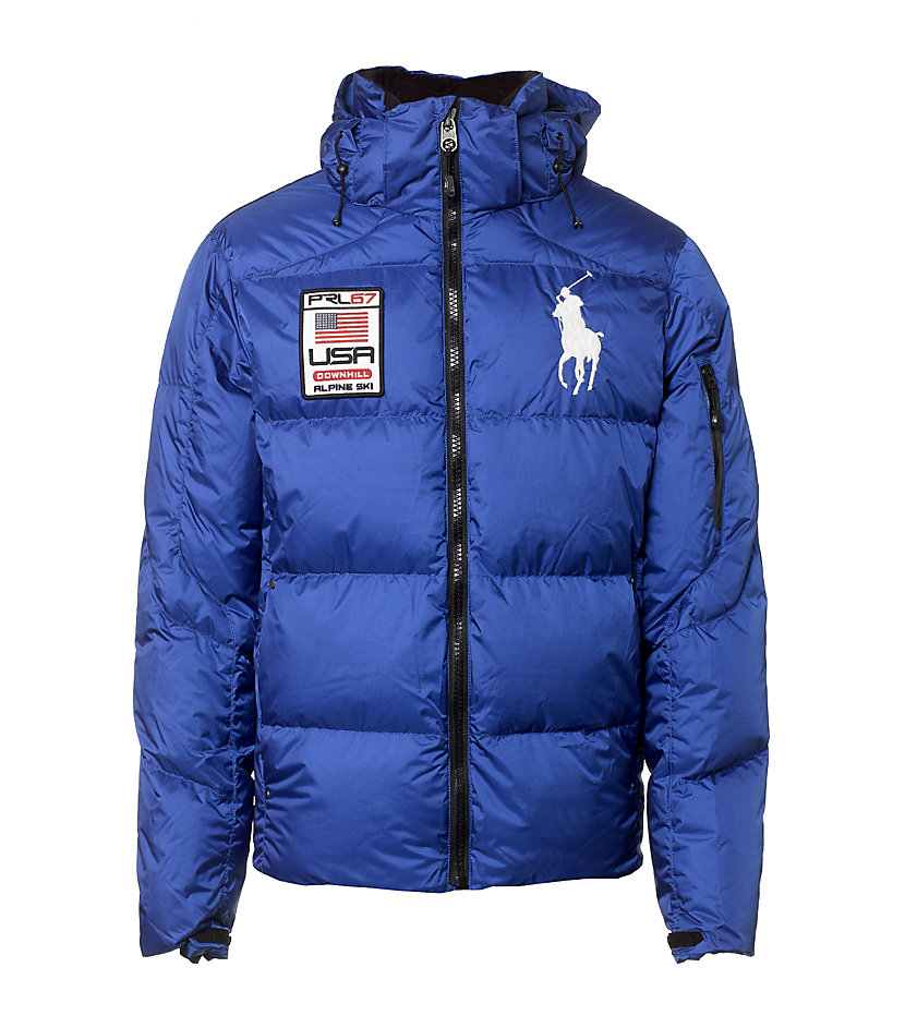 polo ralph lauren tyrol down jacket in blue for men lyst. Black Bedroom Furniture Sets. Home Design Ideas