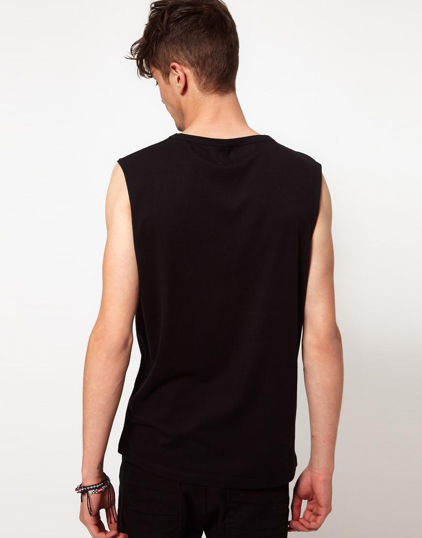 9053e39c81e9c5 Lyst - ASOS Sleeveless T-Shirt with Filth Print in Black for Men