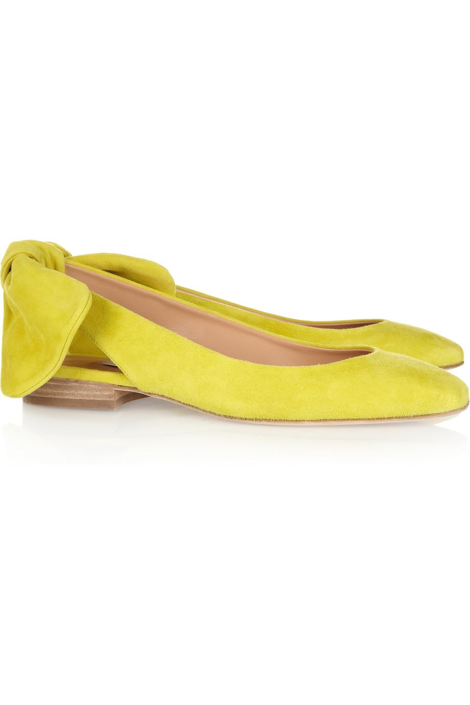 d07dd7135899 Lyst - Carven Flat Suede Slingbacks in Yellow