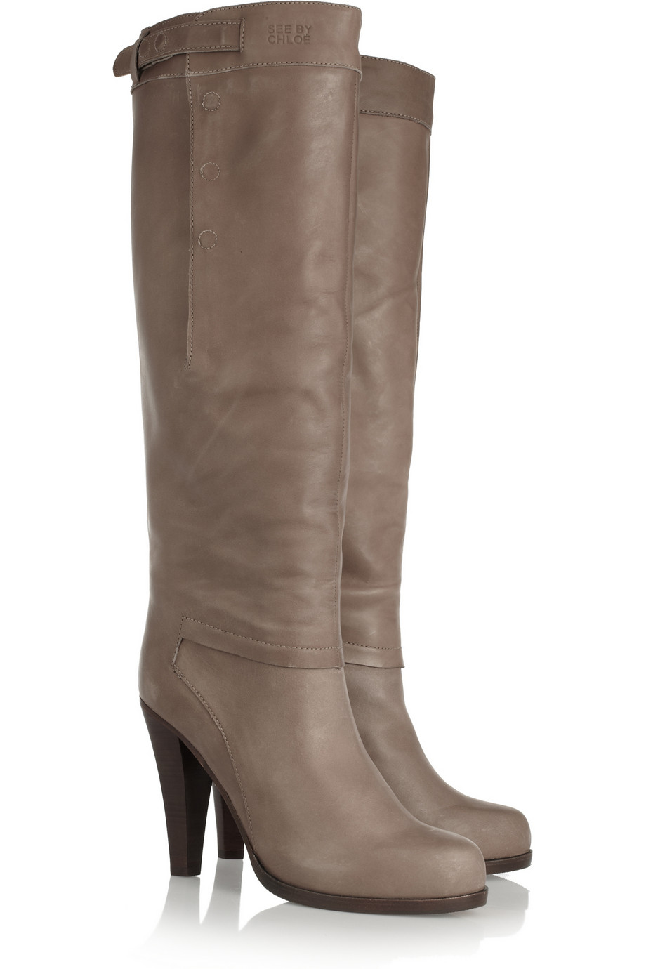 exclusive cheap price Chloé Distressed Knee-High Boots sale best place outlet manchester great sale JKDQ1XzLLl