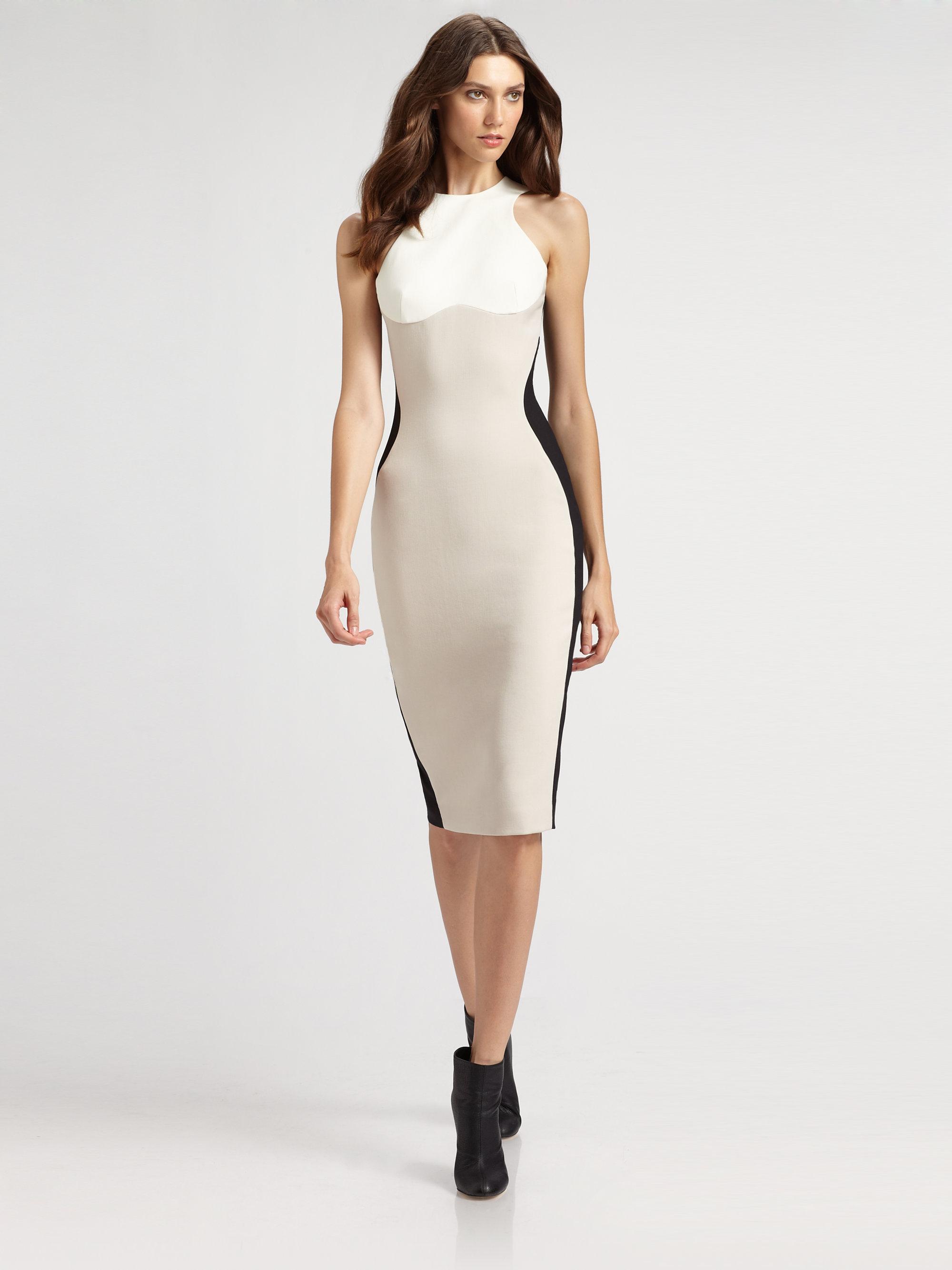 Lyst - Stella Mccartney Colorblock Dress in White