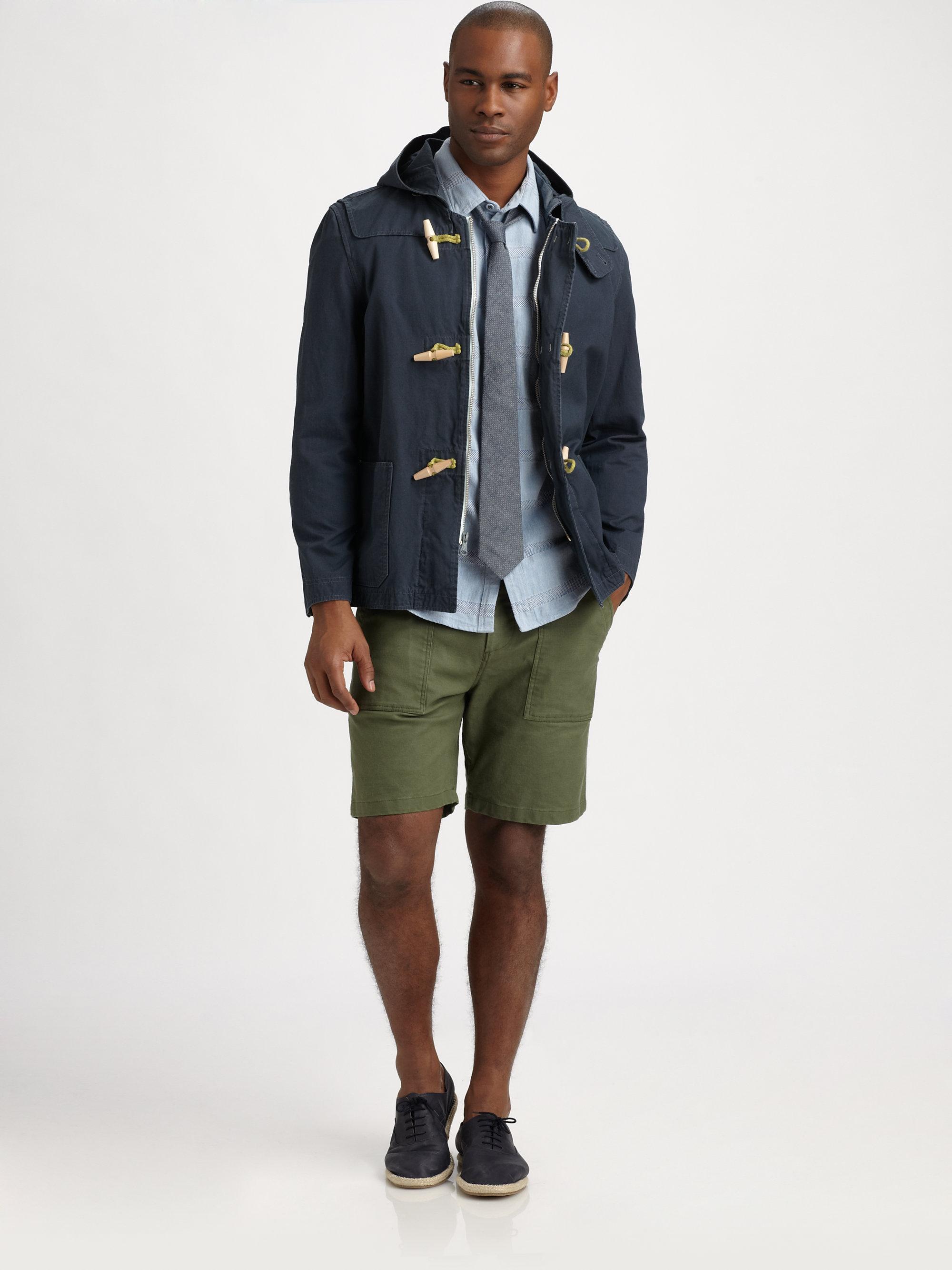 Steven alan Deck Shorts in Green for Men   Lyst
