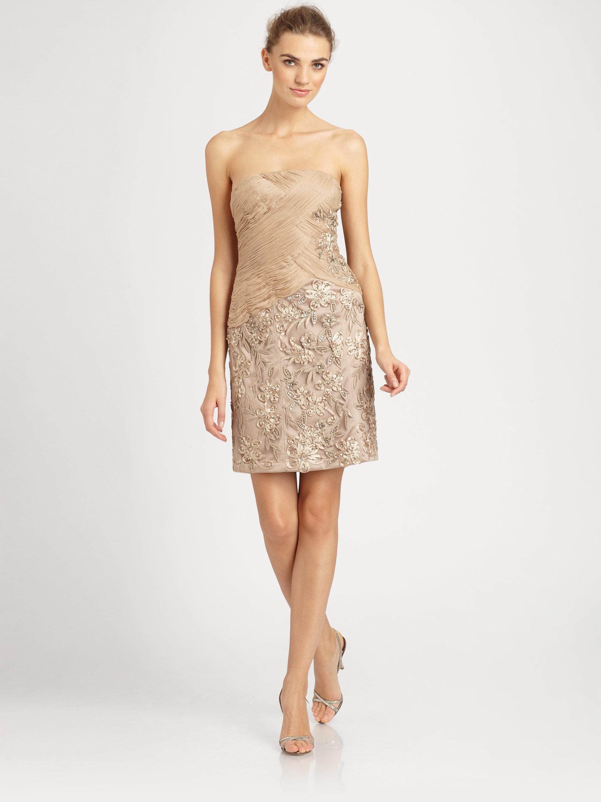 Sue Wong Beaded Strapless Dress - KD Dress