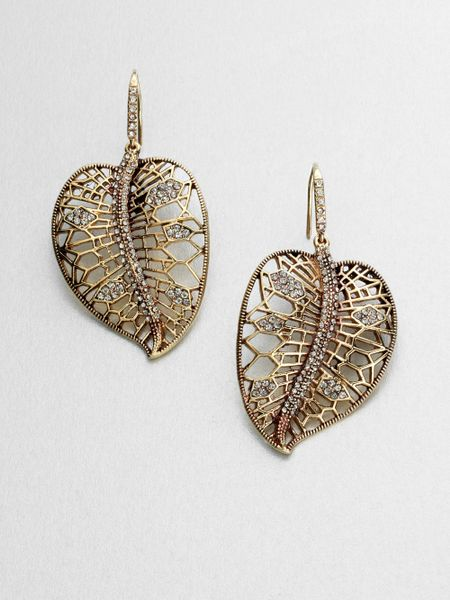 allen jewelry abs by allen schwartz accented leaf drop earrings in 5135