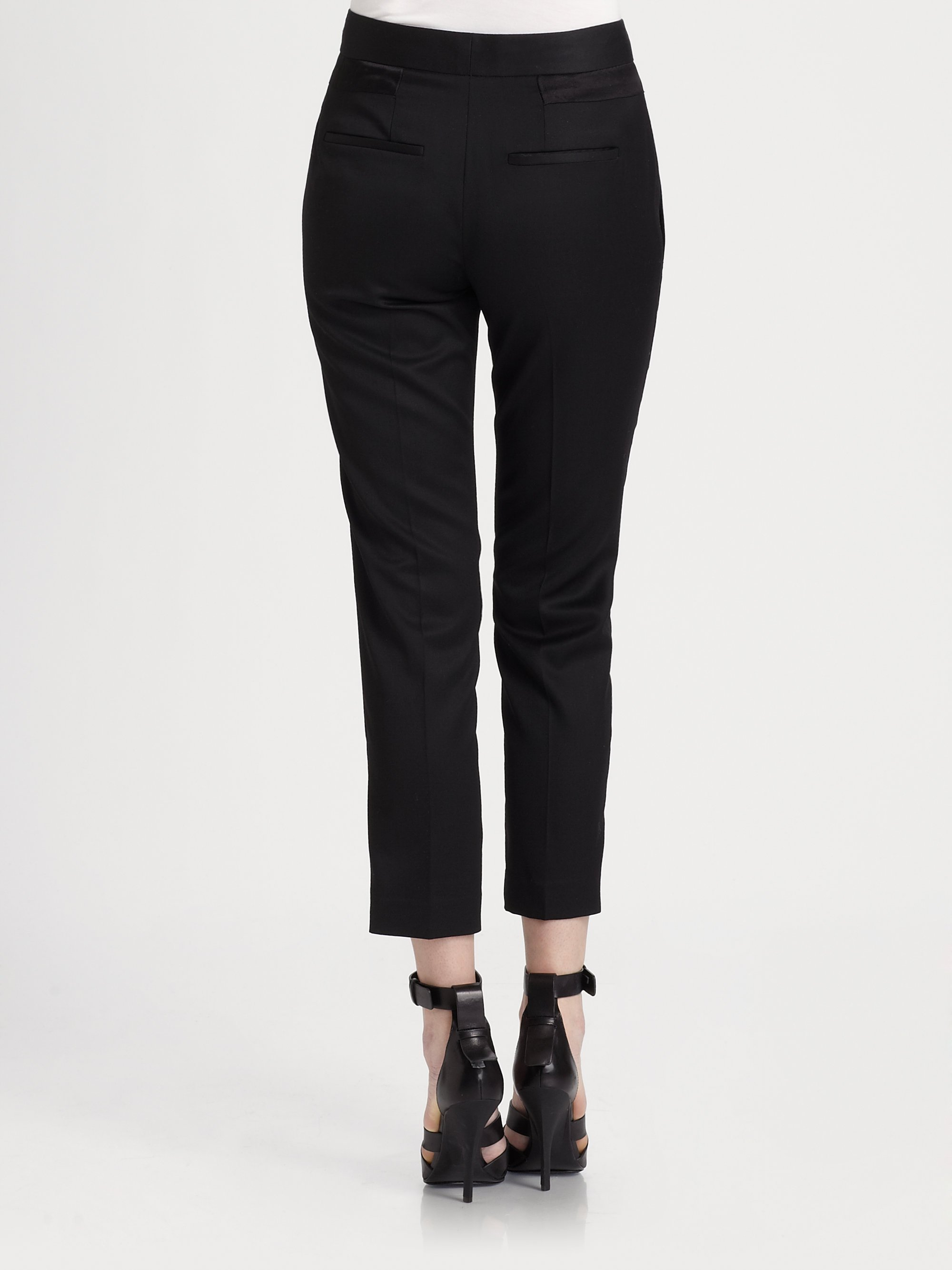 cropped trousers - Black Alexander Wang