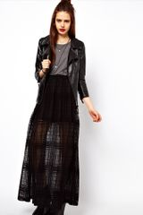 ASOS Collection  Maxi Skirt in Sheer Check