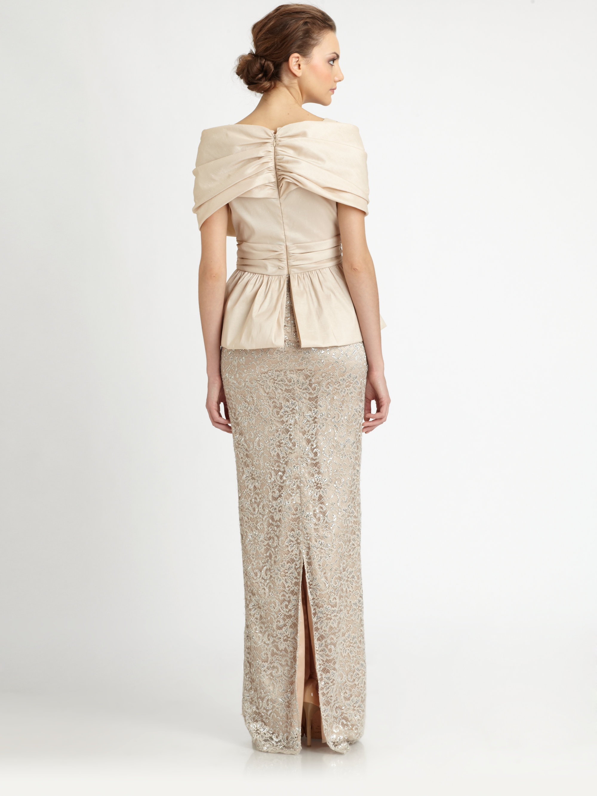 Nice Badgley Mischka Peplum Gown Crest - Images for wedding gown ...