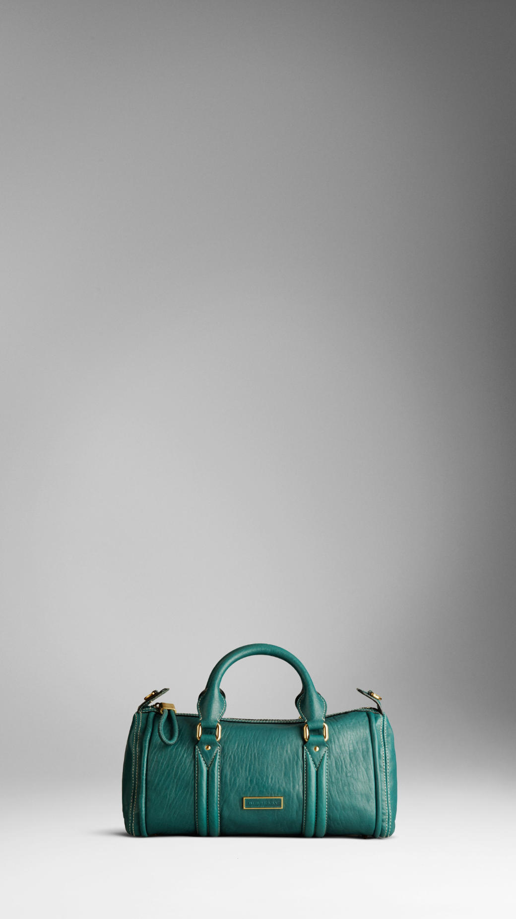 233f07752fec Lyst - Burberry Small Grainy Leather Bowling Bag in Green