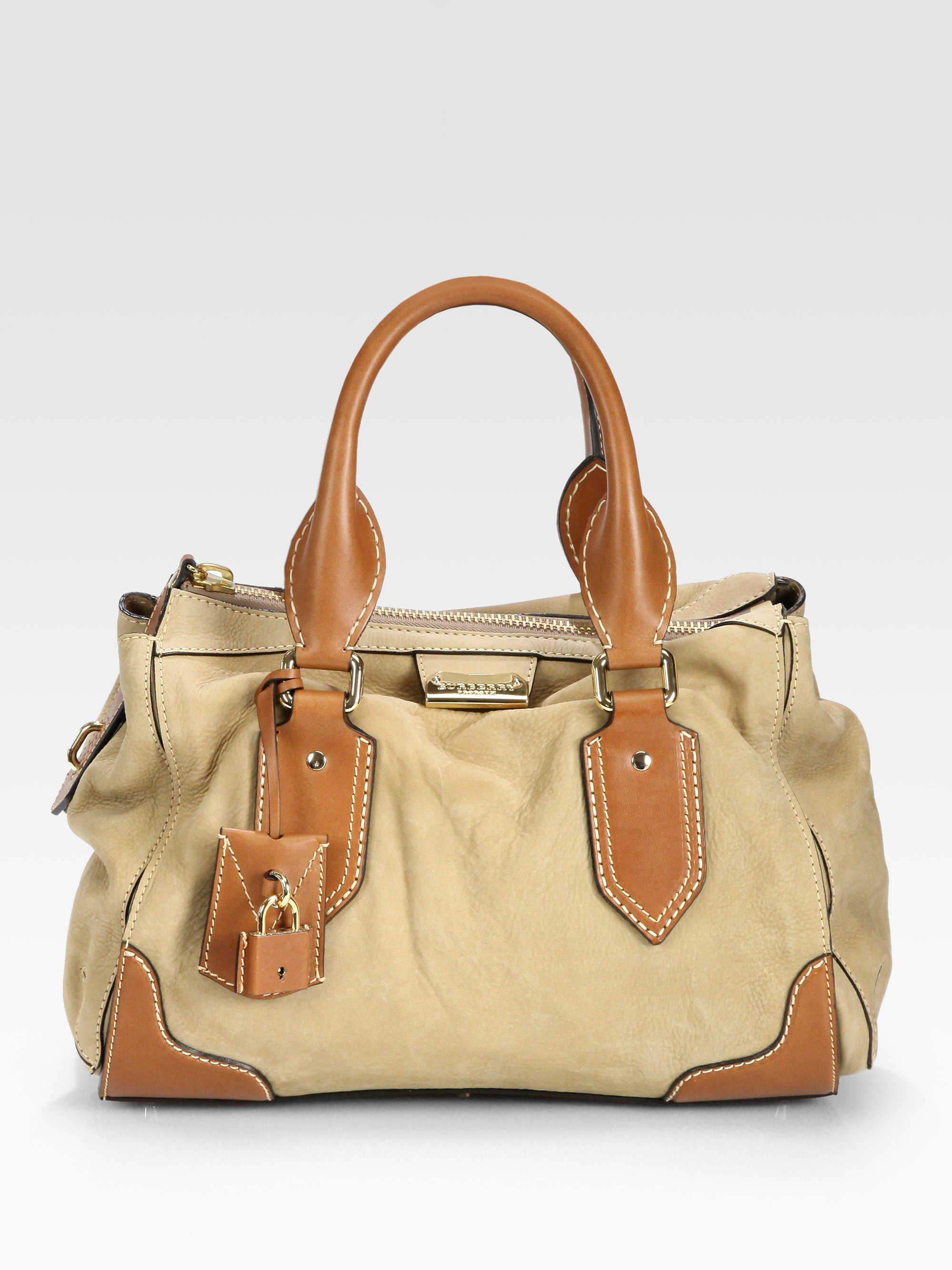 3476d7cba5bb Lyst - Burberry Prorsum Prorsum Gladstone Bowling Bag in Natural