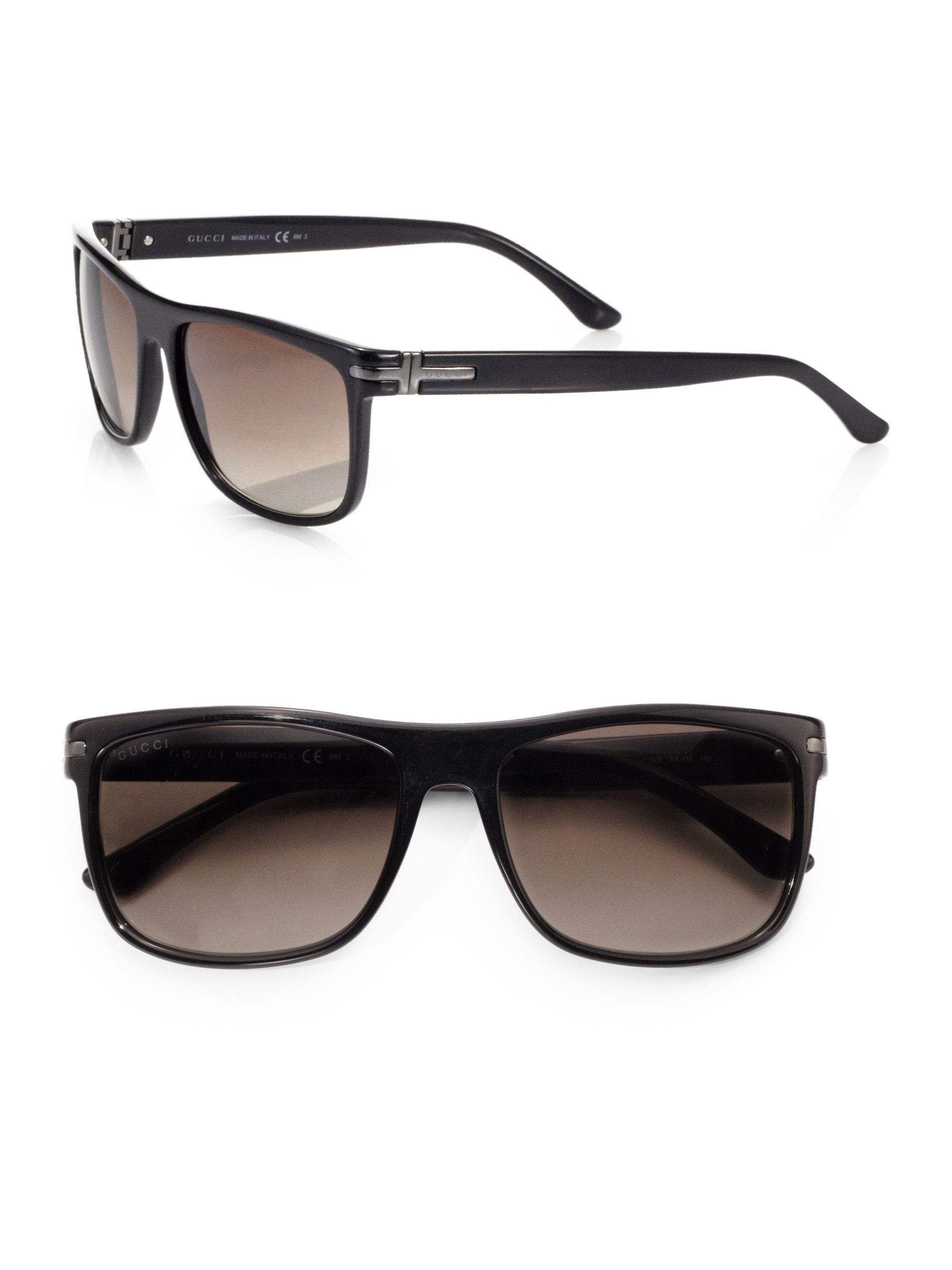 Gucci Classic Acetate Sunglasses In Black For Men Lyst