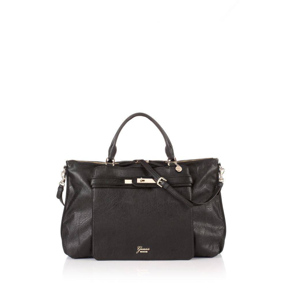 Guess Overnight Bag In Black Lyst
